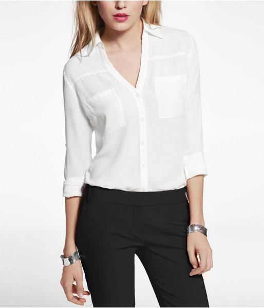 8cc719c4d6d324 Express Original Fit Convertible Sleeve Portofino Shirt, $49 ...