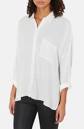 73f93cbb Topshop Oversized Crinkle Shirt, $60 | Nordstrom | Lookastic.com