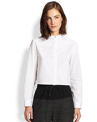 Rag and Bone Rag Bone Alexander Cropped Cotton Shirt