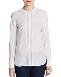 Sheer panel silk blouse medium 206906