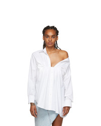 Alexander Wang White Tucked Oxford Blouse
