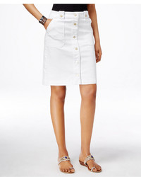INC International Concepts Button Down Denim A Line Skirt Only At Macys