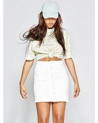 GUESS Button Down Denim Skirt