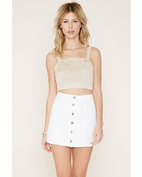 Forever 21 Button Front Denim Skirt