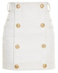 Balmain Button Front Mini Skirt