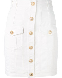Balmain Button Mini Skirt