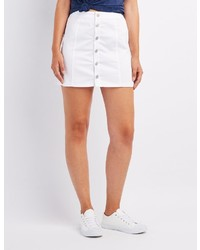 Charlotte Russe Button Up Mini Skirt