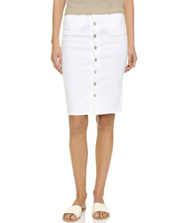 Blank Denim Button Up Denim Skirt