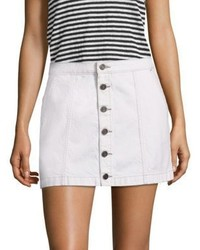 Joie Emeralda Button Front Denim Mini Skirt
