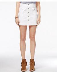 Celebrity Pink Juniors Button Front Cargo Denim Skirt