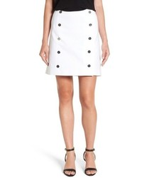 MICHAEL Michael Kors Michl Michl Kors Button Front Wrap Miniskirt