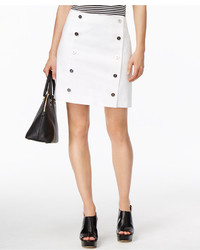 MICHAEL Michael Kors Michl Michl Kors Denim Button Front Mini Skirt