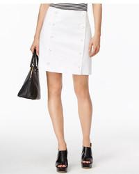 MICHAEL Michael Kors Michl Michl Kors Petite Button Front Mini Skirt