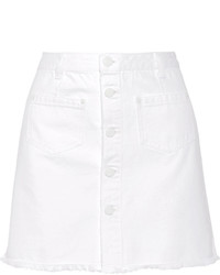 SteveJ & YoniP Steve J Yoni P Denim Mini Skirt White