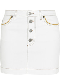 Sonia Rykiel Stretch Denim Mini Skirt White