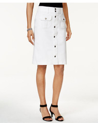 Style&co. Style Co Denim Button Front Skirt Only At Macys