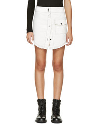 Filles a papa White Buttoned Miniskirt