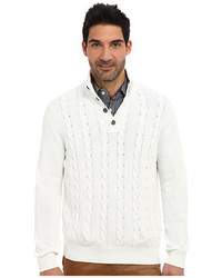 Nautica 7gg Botton Mock Neck Cable Sweater