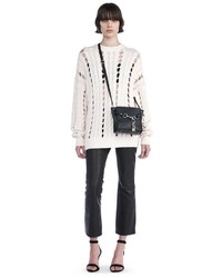 Alexander Wang Cable Knit Pullover With Intarsia Slits