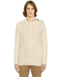 Balmain mohair blend cable knit sweater medium 598935