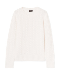 J.Crew Cable Knit Cashmere Sweater