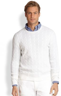 ... Polo Ralph Lauren Cable Knit Cashmere Sweater ...