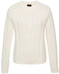 Joseph Cable Knit Cotton Blend Sweater