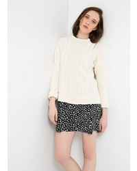 Mango Cable Knit Cotton Sweater