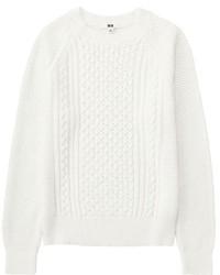 Uniqlo Cable Knit Crew Neck Sweater