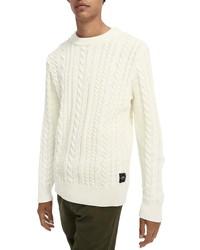 Scotch & Soda Cable Knit Crewneck Sweater