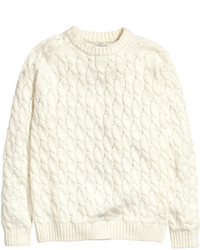 H&M Cable Knit Sweater Natural White