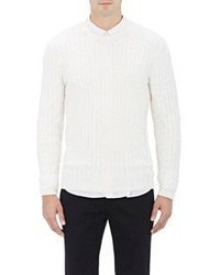 ATM Anthony Thomas Melillo Cable Knit Sweater White