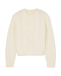 Frame Cable Knit Wool Blend Sweater