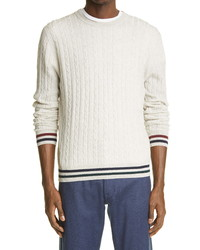Canali Cable Wool Crewneck Sweater