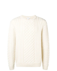 Sunspel Crewneck Cable Knit Sweater