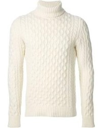 Diesel Cable Knit Turtleneck Sweater