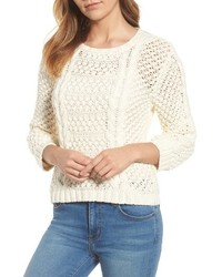 Velvet by Graham & Spencer Graham Spencer Popcorn Cable Sweater