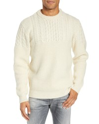 Schott NYC Half Cable Crewneck Sweater