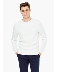 Mango Man Textured Cotton Sweater