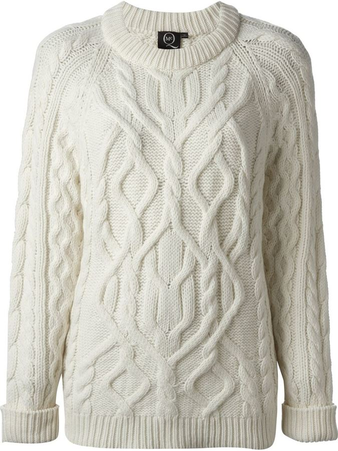 Mcq By Alexander Mcqueen Mcq Alexander Mcqueen Cable Knit Sweater