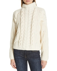Lewit Mix Cable Wool Cashmere Sweater