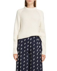 Chloé Mixed Knit Wool Cashmere Blend Sweater