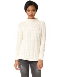 Mock neck cable sweater medium 1211040