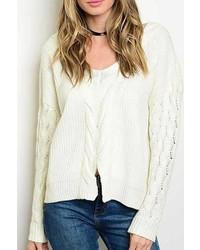 Moda In La Cable Knit Sweater