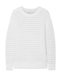 MICHAEL Michael Kors Open Knit Cotton Blend Sweater