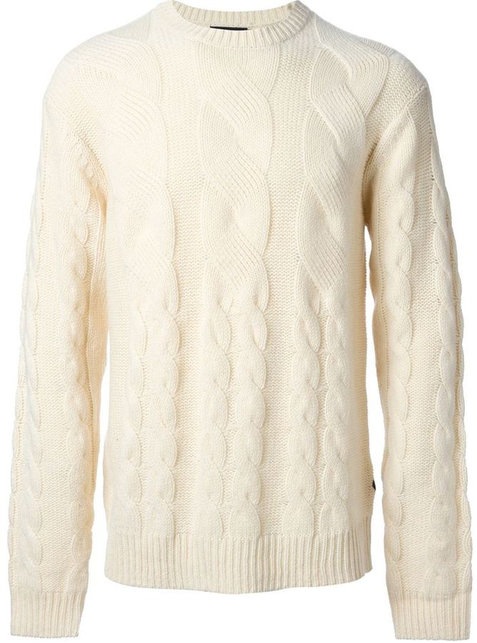 Paul Smith Jeans Chunky Cable Knit Sweater | Where to buy & how to ...