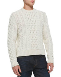 Rag and Bone Rag Bone Trevor Cable Knit Sweater White