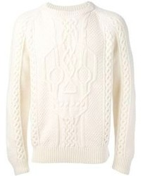 Skull cable knit sweater medium 96584