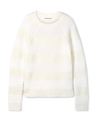 T by Alexander Wang Striped Wool Blend Sweater