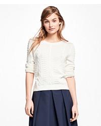 Brooks Brothers Supima Cotton Popcorn Sweater